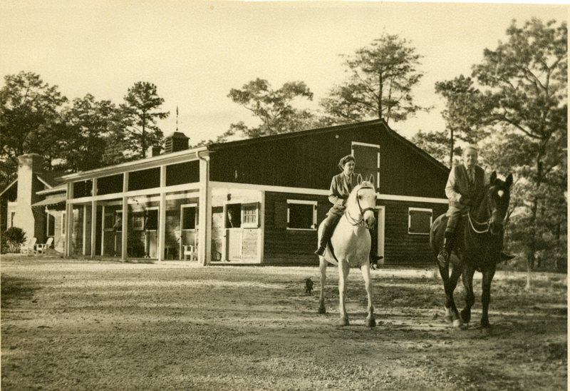Edward H. Bennett and Wife, Olive M. Bennett, Horseback Riding