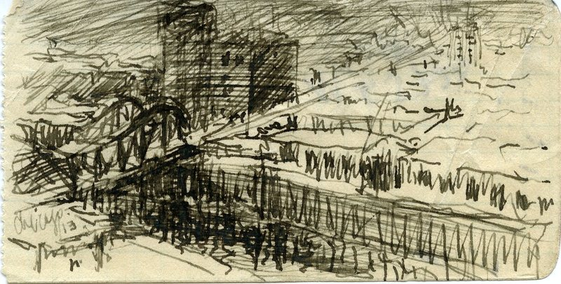Sketch by Peirce Anderson