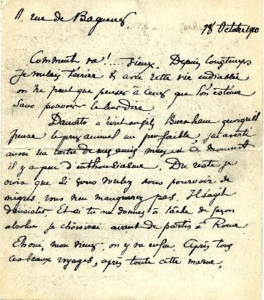 Fernand Janin to Edward H. Bennett Correspondence