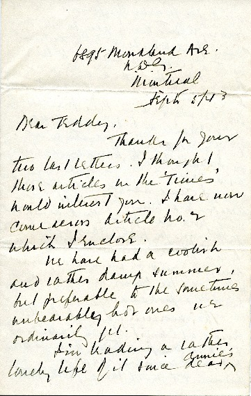 Arthur Brown Jr. to Edward H. Bennett Correspondence, 1943-09-05