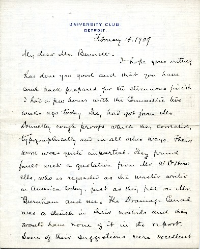 Charles Moore to Edward H. Bennett Correspondence