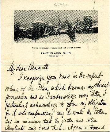 Charles D. Norton to Edward H. Bennett Correspondence