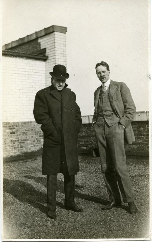 Edward H. Bennett and Unknown Man