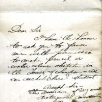 Edward H. Bennett to General Millman, Governor of the Tower of London