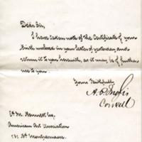 British Consulate in Paris to Edward H. Bennett Correspondence