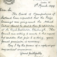 The Secretary of the Royal Institute of British Architects to Edward H. Bennett Correspondence