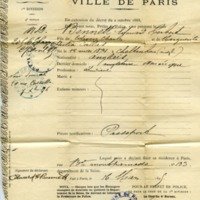 Paris Police Department Document