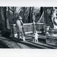 Edward H. Bennett in Bagatelle Garden with Child