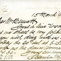 Hamlyn Moyle to Edward H. Bennett Correspondence